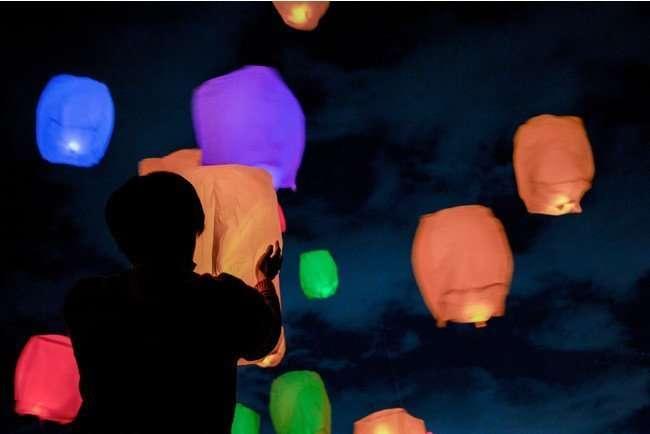 O park Ogose Satoyama Sky Lantern Night