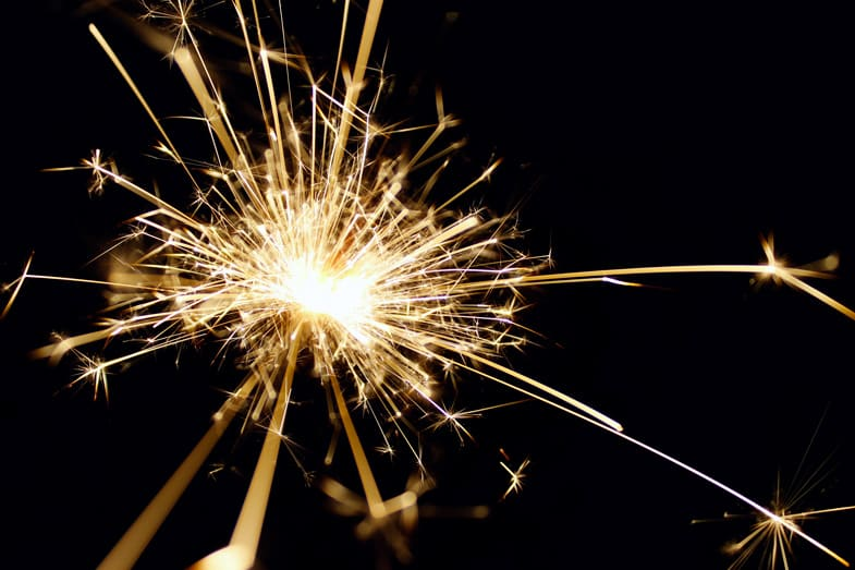 fireworks for celebrating small achievements