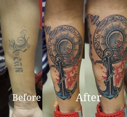 Compass Tattoo / Mom Tattoo / Watch Tattoo insane tattoos - best tattoo studio parlour in mumbai mulund juhu india All Work 5 1273977863674003477