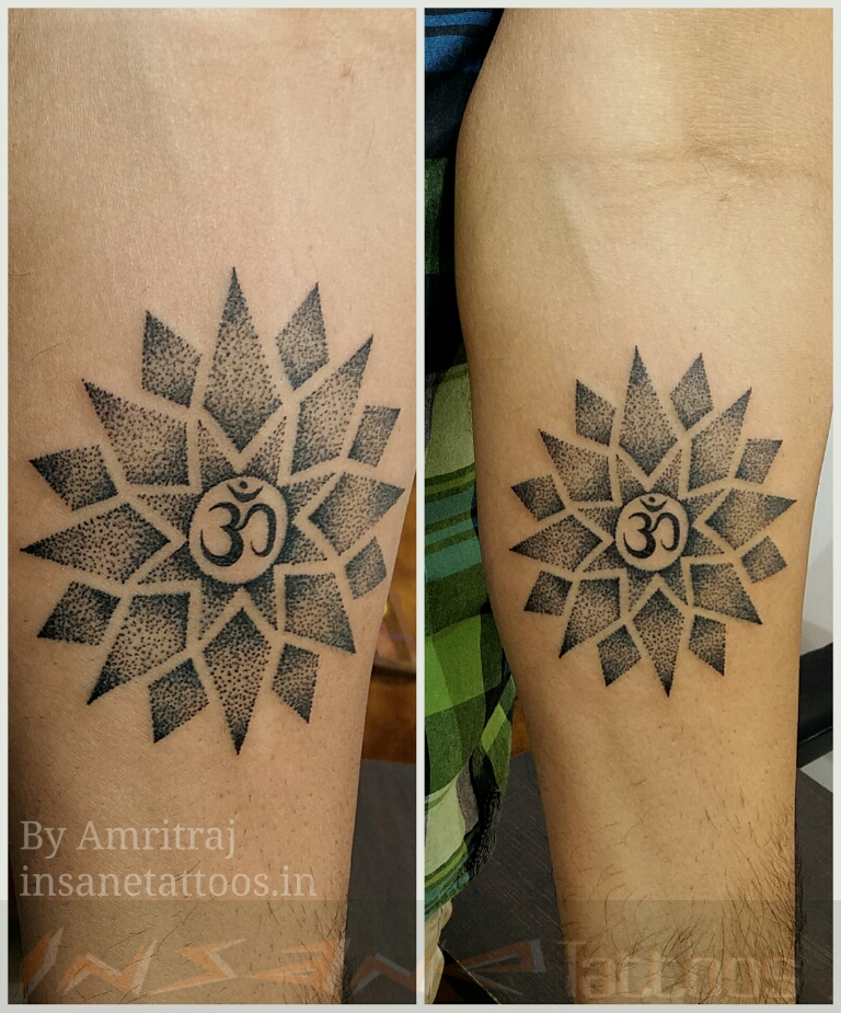 Om Tattoo / Dot Work Tattoo insane tattoos - best tattoo studio parlour in mumbai mulund juhu india All Work 14919002842373