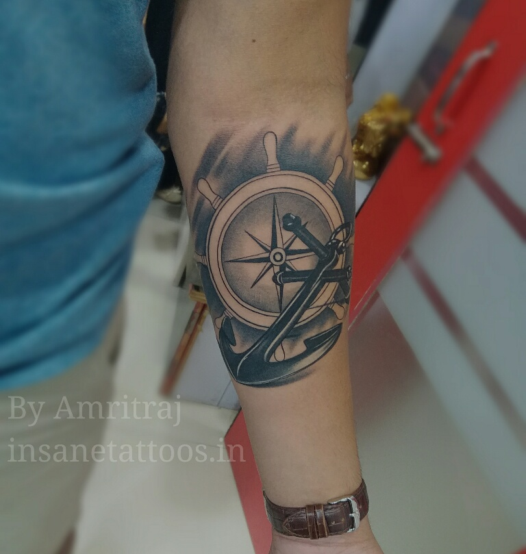 Sailors Tattoo/ Anchor Tattoo/ Forearm Tattoo insane tattoos - best tattoo studio parlour in mumbai mulund juhu india All Work 15106552567551