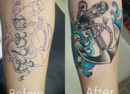 Cover up Tattoo/ Free hand Tattoo / Travel Tattoo Anchor with Rope 15106552654452 scalia blog default