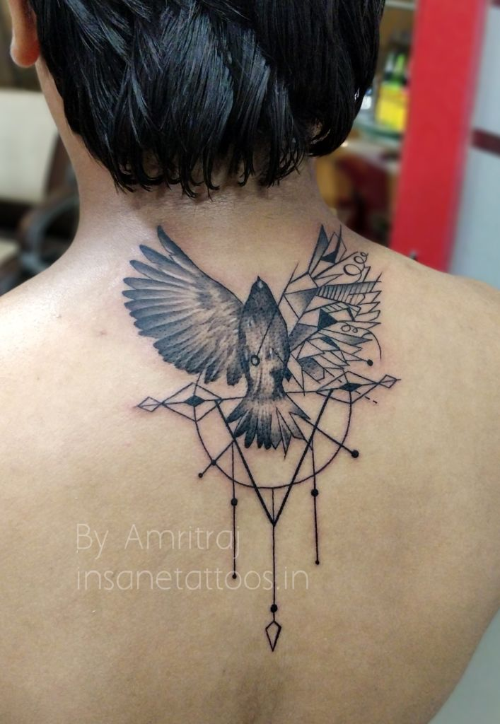 Bird Tattoo/ Wings Tattoo/ Detailed Tattoo insane tattoos - best tattoo studio parlour in mumbai mulund juhu india All Work IMG 20180327 200405 Bokeh 707x1024