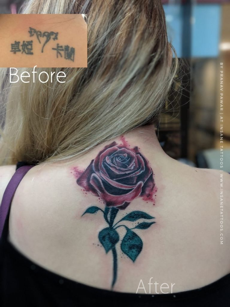 Female Tattoo/Cover up Tattoo/ Leaves Tattoo insane tattoos - best tattoo studio parlour in mumbai mulund juhu india All Work IMG 20180731 WA0037 01 768x1024