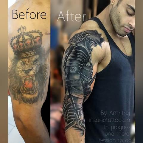 Warrior Tattoo/ Fighter Tattoo best tattoo studio & training in mumbai thane powai ghatkopar mulund Best Tattoo Studio & Training in Mumbai Thane Powai Ghatkopar Mulund 4 1 1