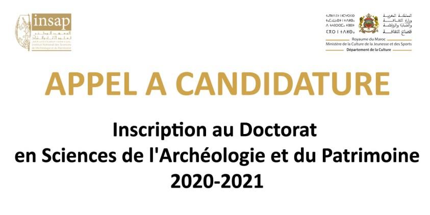 APPEL A CANDIDATURE doctorat 2020