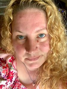 Rayne with blonde hair