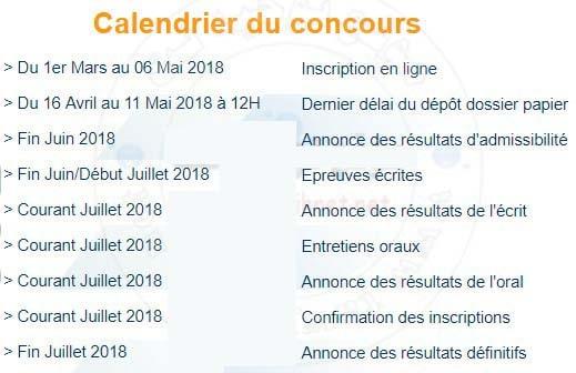 Calendrier Iscae 2018 Inscription Ma