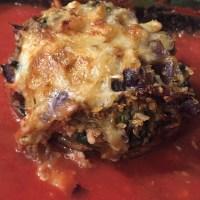 Zucchini and Rice Stuffed Mushrooms
