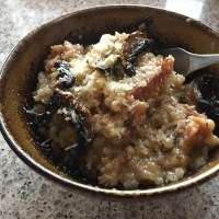 Mushroom and Spicy Sausage Risotto