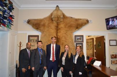 Our team in Rep. Young's office, also of Alaska.