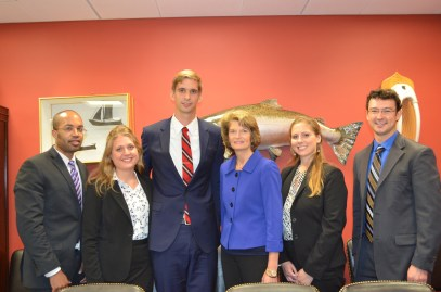 Our team with Senator Murkowski of Alaska.