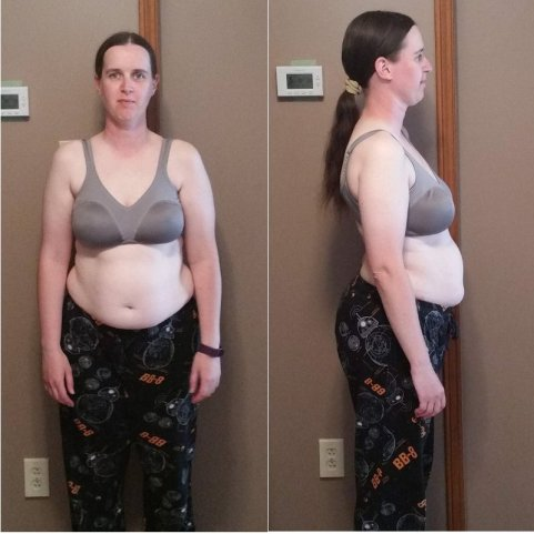What I looked like before the 30-day challenge.