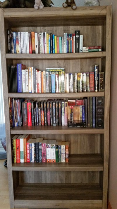 TBR update - My one shelf of books, mostly read.
