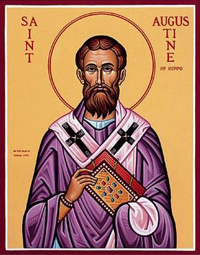 Ikona przedstawiająca Świętego Augustyna Źródło: http://mapleseed.wordpress.com/2011/02/20/st-augustine-of-hippo-early-church-father/