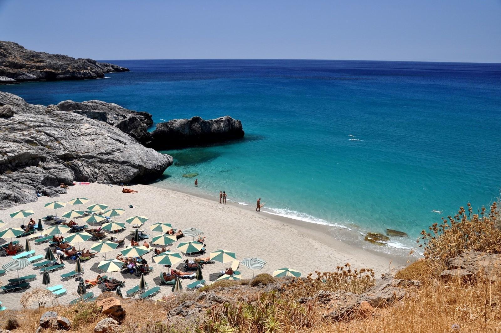Ammoudi Strand auf Kreta