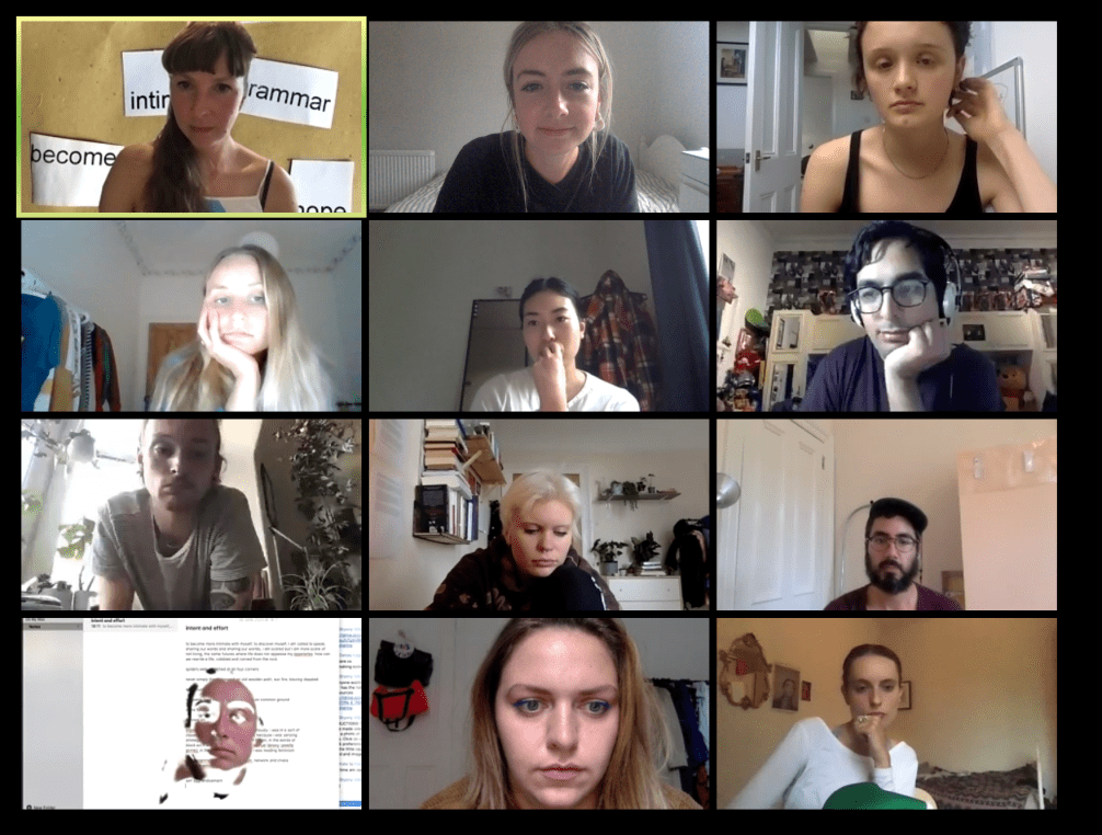 A screenshot of 12 people on Zoom.
