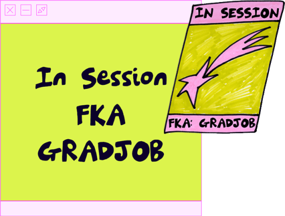 In Session FKA GRADJOB is a learning and 'unprofessional' contemporary art practice programme that focuses on the needs of early-career practitioners working/practicing in Scotland today along with the new challenges they now face as a result of COVID-19.