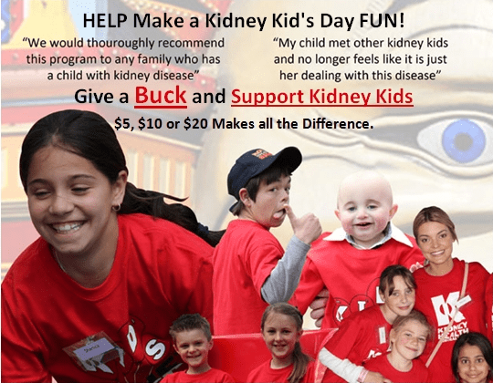 Every Dollar Makes a Difference to the life of a Kidney Kid