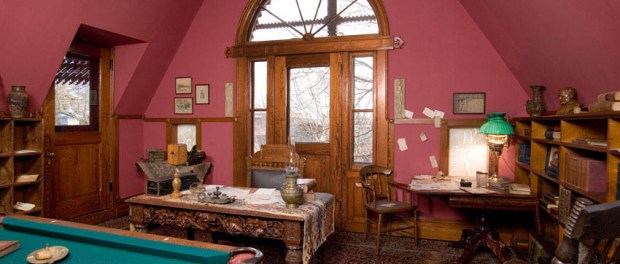 Das Billiardzimmer im Mark Twain House. Foto: John Groo for The Mark Twain House & Museum