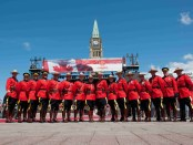 Royal Canadian Mounted Police zum Canada Day auf dem Parliament Hill. - Foto: Ottawa Tourism