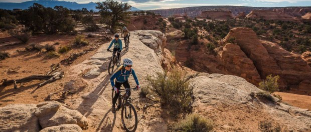 Mountainbiking auf dem Magnificent Seven Trail in Moab. - Foto: Rim Tours