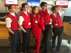 AIRcelerate Studenten auf der Station. - Foto: Austrian Airlines