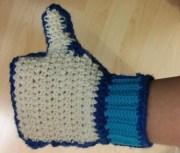 Crochet #8 : Gant j'AIME facebook