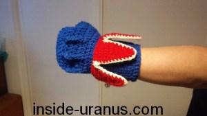 tricot crochet mitaine gant fulguropoing goldorak