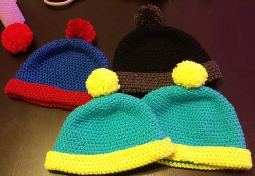 Crochet beanie south park Stan Eric Cartman with pompon