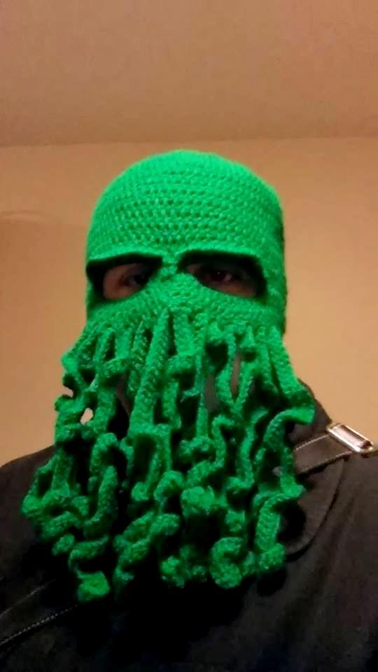 crochet bonnet Cthulhu lovecraft ski mask