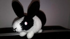 crochet amigurumi bunny rabbit black metal zombie