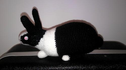 crochet amigurumi bunny rabbit black metal zombie