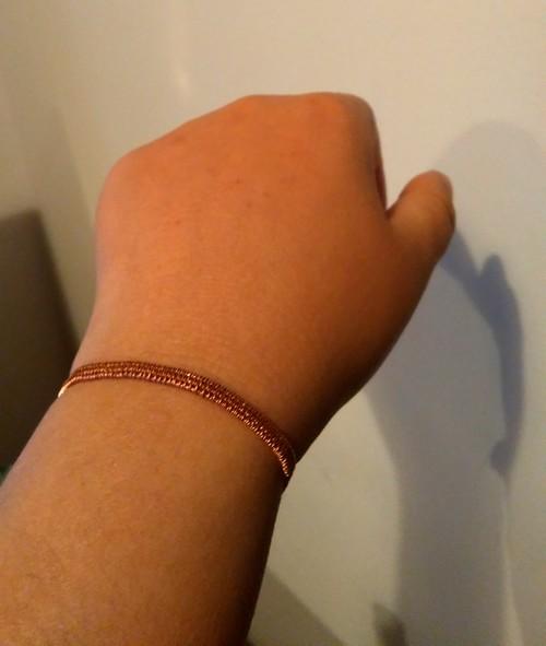 Wire weaving bracelet Soumak