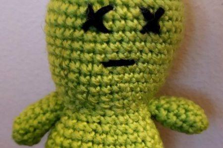 crochet extra-terreste amigurumi
