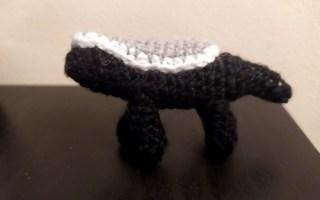 crochet amigurumi animal honey badger