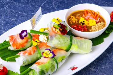 STHC spring rolls and soup