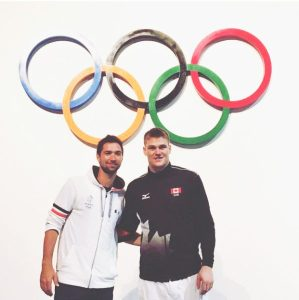 Kevin Tillie (right) and Gord Perrin at the 2016 Summer Olympics in Rio de Janeiro, Brazil