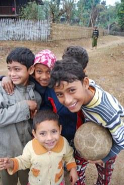 Making friends is easy in Burma