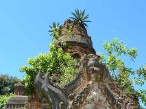 Overgrown pagoda