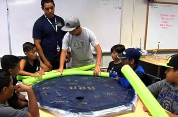 Children in summer activity.