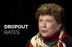 Delaine Eastin talks about dropout rates.