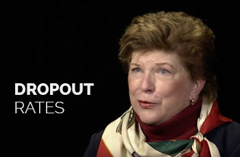Delaine Eastin talks about dropout rates.