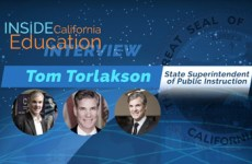 Inside California Education Interview with Tom Torlakson, State Superintendent of Public Instruction. Pictures of Tom Torlakson