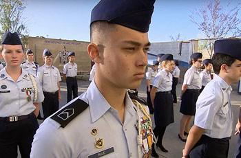 junior rotc cadets san diego, california, usa