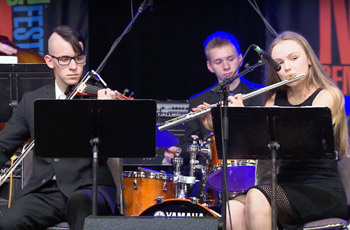 Folsom High School Jazz players in Monterey Jazz Competition