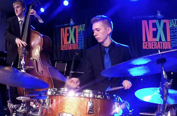 Students from Folsom High School participating in Next Generation Jazz Competition in Monterey, California