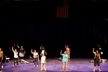 theater students on stage