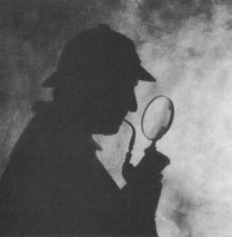 sherlock holmes and magnifying glass