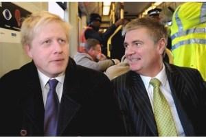Gis your job: Steve O'Connell, right, with London Mayor Boris Johnson
